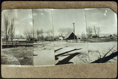 Four Photos Comprising Panoramic View Looking East from in Front of the Micca House, ca. 1942 - Paradise Valley, Nevada