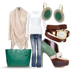 """""""Green Envy"""" by melessa on Polyvore"""