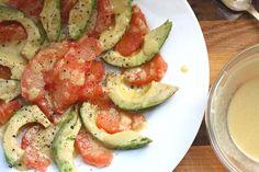 ... buttered crouton salad with avocado and smoked salmon joythebaker com