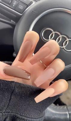 Acrylic Nails Kylie Jenner, Kylie Jenner Nails, Acrylic Nails Coffin Short, Simple Acrylic Nails, Summer Acrylic Nails, Acrylic Nail Designs, Coffin Nail, Aycrlic Nails, Swag Nails