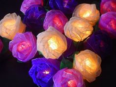 Magical Garden Fairy Lights Old English Purple Mixed Colour Rose Fairy Light String Storm,http://www.amazon.com/dp