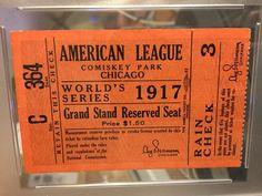 1917 World Series Game 5 Ticket PSA Chicago White Sox New York Giants
