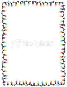 Christmas Lights Party Frame Royalty Free Stock Vector Art Illustration
