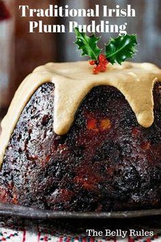 Traditional Irish Plum Pudding Traditional Irish Plum Pudding - My Recipe Magic Christmas Cooking, Christmas Desserts, Christmas Holidays, Christmas Cakes, English Christmas Pudding, Irish Christmas Pudding Recipe, Christmas Plum Cake Recipe, Köstliche Desserts, Dessert Recipes