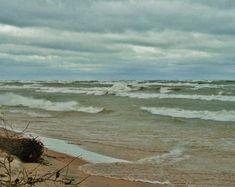 Beach Photography, Fine Art Photography, Storm Lake, Lighthouse Pictures, Art Calendar, Beach Aesthetic, Beach Print, Beach Scenes, Lake Michigan