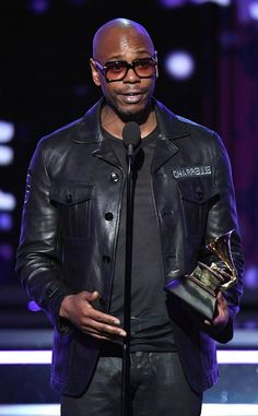 Dave Chappelle from Grammy Awards 2018 Winners Famous Black, Famous Men, Dave Chappelle, Grammy Award, Black Figure, Black Celebrities, Creative Portraits, Kaneki, Black Man