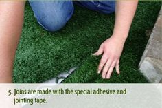 Joins are made with the special adhesive and jointing tape. Grass, Adhesive, Tape, Grasses, Band, Herb, Ice