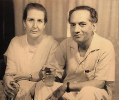 Faiz Ahmad Faiz (a notable Pakistani poet) and his wife.