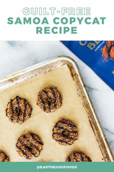 What's your favorite Girl Scout cookie? 🍪🤔 If it's Samoas then you're in for a treat! This super-simple copycat recipe has all of the flavor you love but made with wholesome ingredients. Check it out!