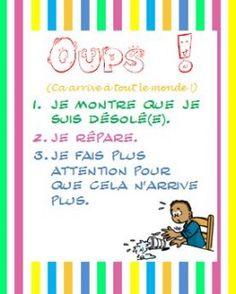 Affiche pour la classe - Charivari à l'école  www.tdah.be