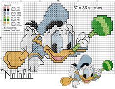 Disney Cross Stitch Patterns, Cross Stitch For Kids, Cross Stitch Baby, Cross Stitch Charts, Cross Stitch Designs, Disney Stitch, Cross Stitch Bookmarks, Baby Mickey, Crochet Diagram
