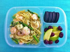 Operation: Lunch Box: Day 100 - Shrimp Pasta for Two