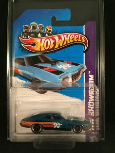 2013 Hot Wheels SUPER Treasure Hunt 72 FORD TORINO GRAN SPORT Blue w/ PROTECTO #HotWheels #Ford #SuperTreasureHunt