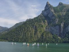 Sailing on Traunsee