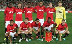 United in action in Australia in the all-new kit