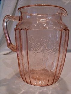 Mayfair Pink Depression Glass Pitcher. :) my pattern I collect... started with pieces from my grandmother. I have 1 of these.