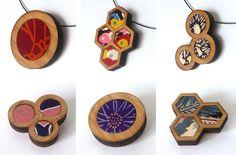 Kimono Fabric Bamboo Jewelry