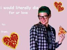 jarrod alonge pop punk vocalist pizza valentines day card