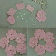 How to make felt flowers feltflowertemplate how to make felt flowers for headgear .How To Make Felt Flowers Felt Flower Template How To Make Felt Flowers For Headbands, Felt Flower Tutorial, How To Make Felt Diy, Felt Crafts, Fabric Crafts, Sewing Crafts, Diy And Crafts, Sewing Projects, Organizing Crafts, Cloth Flowers, Felt Flowers