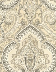 Castlehead Paisley wallpaper from Ralph Lauren, PRL037/01 - Pearl, £55
