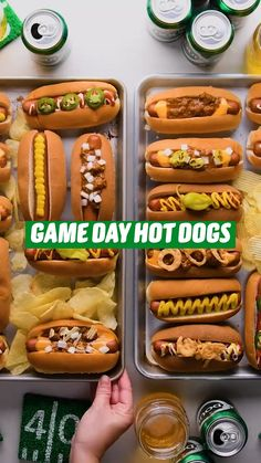 Hot Dog Recipes, Fun Baking Recipes, Crockpot Recipes, Cooking Recipes, Good Food, Yummy Food, Tasty, Game Day Food, Diy Food
