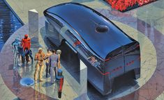 2008 Black Hypervan Illustration by Syd Mead