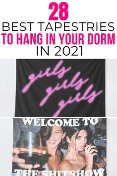 dorm room flags 2021 Boho Dorm Room, Cute Dorm Rooms, College Dorm Rooms, College Hacks, Dorm Room Layouts, Dorm Room Designs, Inspiration Room, College Dorm Organization, College Dorm Decorations