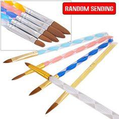 Way Acrylic Nail Art Pen Brush Cuticle Pusher 18cm