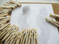 """Technique - Curved Whole Stitch Lace - Luxe DIY - The clothes pin bobbins are fun. a nice idea in a """"pinch"""". Sewing Lace, Lace Knitting, Needle Tatting Tutorial, Picot Crochet, Bobbin Lacemaking, Lace Art, Bobbin Lace Patterns, Point Lace, Lace Jewelry"""