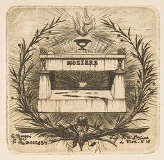 Charles Meryon (French, 1821–1868). Le Tombeau de Molière (au Père-Lachaise) Molière's tomb, Père-Lachaise Cemetery, Paris, 1854. The Metropolitan Museum of Art, New York. Rogers Fund, 1917 (17.78.12)