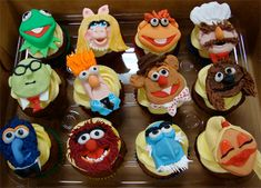Muppet Show Cupcakes  Cupcakes designed to look like characters from the Muppet Show.