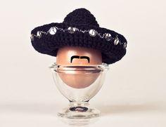 Eierwärmer - Eierwärmer Fiesta Mexicana Mariachi Hut - ein Designerstück von Marith bei DaWanda