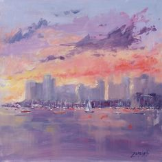 Laura Zanghetti - Setting Sun Over Boston