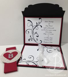Wedding invitation sample using Stampin' Up! Everything Eleanor stamp set.