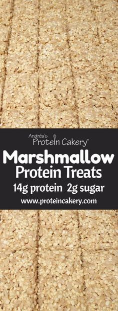 Marshmallow Protein Treats - Gluten Free - low sugar - high fiber - by Andréa's Protein Cakery