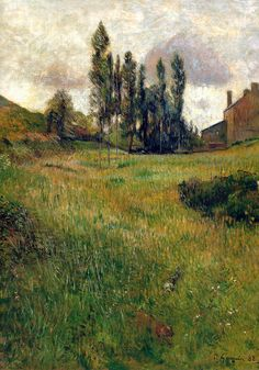 Paul Gauguin - Dogs Running in a Meadow, 1888 at Museo Thyssen-Bornemisza Madrid Spain