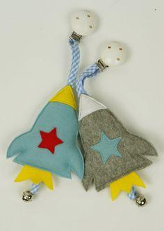 Kinderwagenanhänger,rakete,glöckchen rakete, von bella & gretel auf DaWanda.com