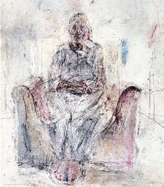 Tribute to Giacometti, 1986 - Chronis Botsoglou Art Database, Surrealism, Painting, Painting Art, Paintings, Painted Canvas, Drawings