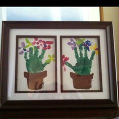 Handprint birthday flowers for grandma! So going to make this for grandma this year.