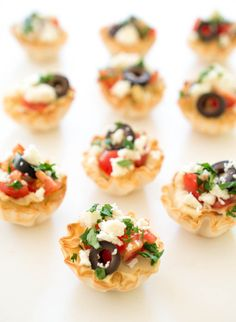 Quick and Easy Greek Hummus Phyllo Bites | chefsavvy.com #recipe #appetizer #easy #healthy