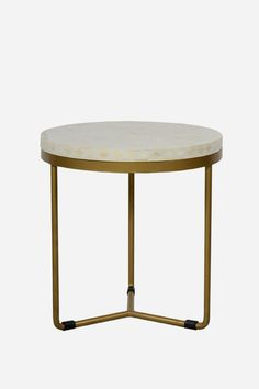 Bone Inlay Side Table - Round, Floral - Fenton and Fenton
