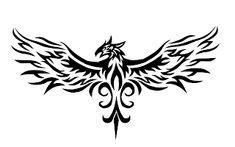 TRIBAL Phoenix Tattoos for Men   Angry phoenix tattoo designs