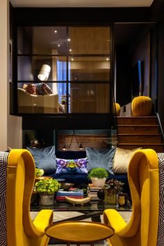 Mellow Yellow Islington Interior Design Project, Daniel Hopwood.  Interesting Architecture