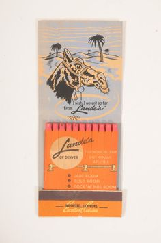Lande's Diner, #Denver CO #frontstriker #feature #giant #matchbook  To design & order your advertising #matches GoTo: GetMatches.com or Call 800.605.7331 Today!