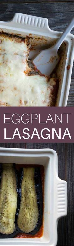 This easy Eggplant Lasagna recipe is a wonderful option if you're trying to cut back on pasta! It's a flavorful, filling vegetarian dinner.