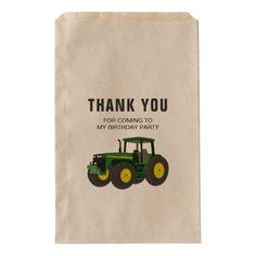 Green Farm Tractor Birthday Party Favor Bag - kids birthday gift idea anniversary jubilee presents Kids Birthday Gifts, 1st Boy Birthday, Birthday Party Favors, Birthday Parties, Birthday Ideas, Tractor Decor, Teacher Party, Tractor Birthday, Green Farm