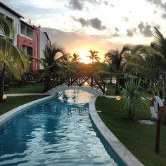 Sunrise over the #pool at #NowLarimar in #PuntaCana. #Caribbean #tropics