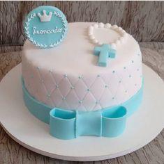 Christening Cupcakes Boy, Baby Boy Baptism, Baptism Party, Baptism Ideas, Baby Boy Cakes, Cakes For Boys, Simple Baptism Cake, Fondant Cakes, Cupcake Cakes