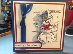 Tim Holtz blueprint snowman