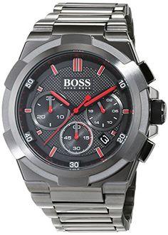 Hugo BOSS Men's Chronograph Quartz Watch with Stainless Steel Bracelet – 1513361--225